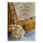 Invitación del brunch del boda del poste del