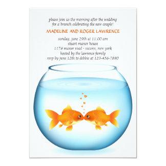 Invitación del brunch del boda del poste del invitación 12,7 x 17,8 cm