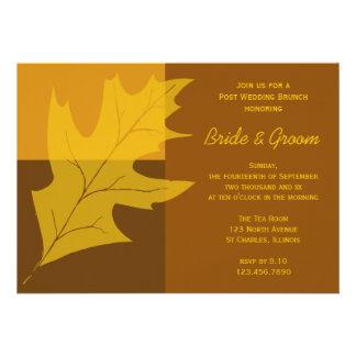 Invitación del brunch del boda del poste del bloqu