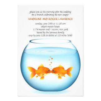 Invitación del brunch del boda del poste del cuenc