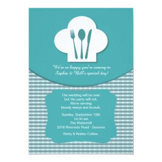Invitación del brunch del boda del poste del gorra