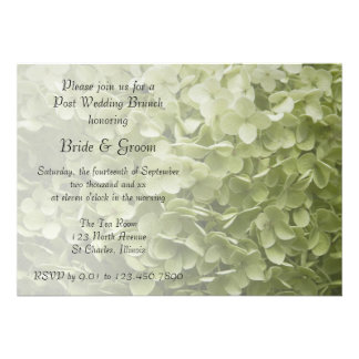 Invitación del brunch del boda del poste del Hydra