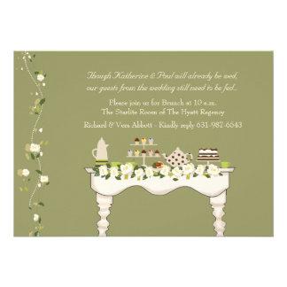 Invitación del brunch del boda del poste usted co