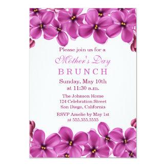 Invitación del brunch del día de madre de la