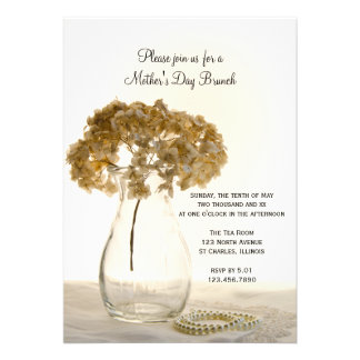 Invitación del brunch del día de madre secada del