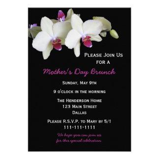 Invitación del brunch del día de madres - orquídea