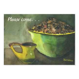 Invitación del brunch dominical invitación 12,7 x 17,8 cm