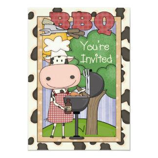Invitación del buey del Bbq
