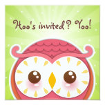 Invitación del búho de HooHoo