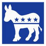 Invitación del burro de Demócrata