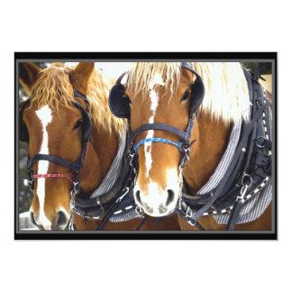 Invitación del caballo de proyecto de Clydesdale