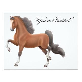 Invitación del caballo de Saddlebred