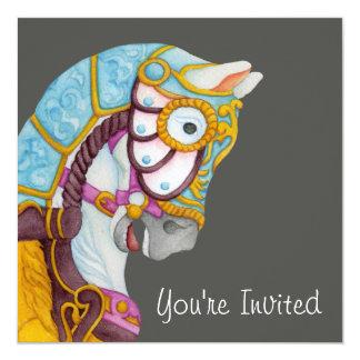 Invitación del caballo del carrusel de Clara