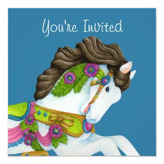 Invitación del caballo del carrusel de Gayle
