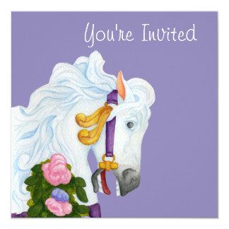 Invitación del caballo del carrusel de Najira