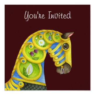Invitación del caballo del carrusel de Neptuno