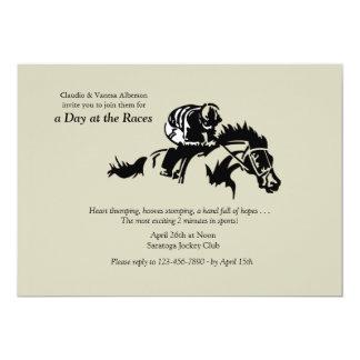 Invitación del caballo y del jinete