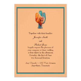 Invitación del cactus y del búfalo del sudoeste invitación 12,7 x 17,8 cm