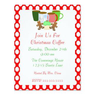 Invitación del café del navidad