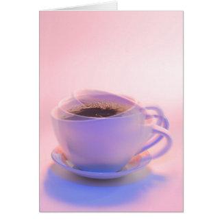 Invitación del café tarjeta de felicitación