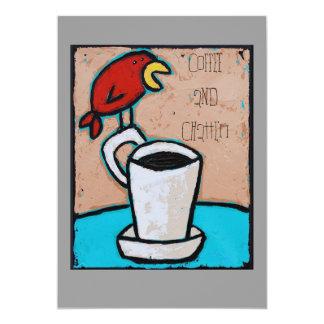 Invitación del café y de la charla