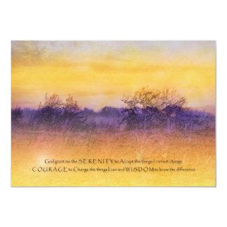 Invitación del campo del naranja y de la púrpura invitación 12,7 x 17,8 cm