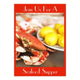 Invitación del cangrejo y de los limones