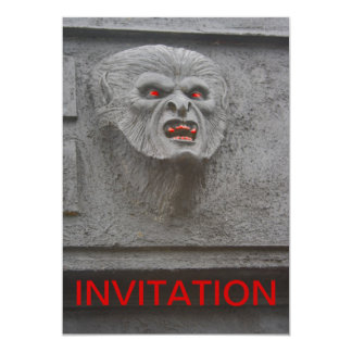 Invitación del carácter del horror del hombre lobo