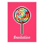 Invitación del caramelo del Lollipop del arte del