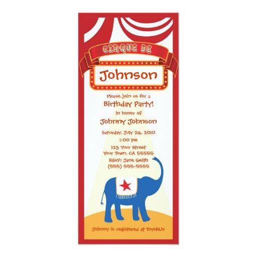 Invitación del carnaval invitación 10,1 x 23,5 cm