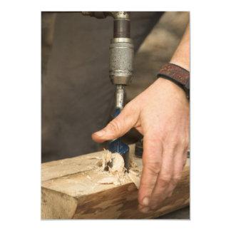 Invitación del carpintero invitación 12,7 x 17,8 cm