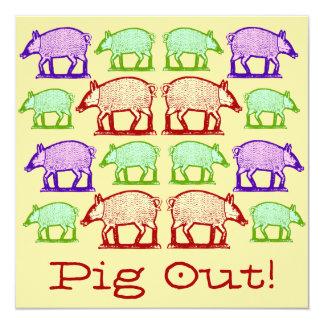 Invitación del Cerdo-Hacia fuera de la comida