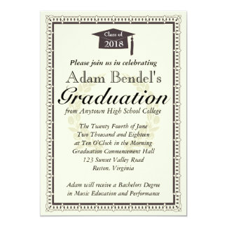 Invitación del certificado de la graduación