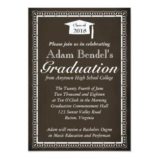 Invitación del certificado de la graduación -