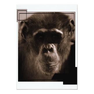 Invitación del chimpancé invitación 12,7 x 17,8 cm