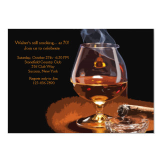Invitación del cigarro y del brandy