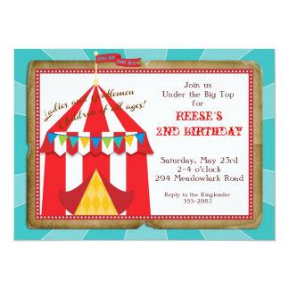 Invitación del circo del top grande invitación 13,9 x 19,0 cm