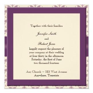 Invitación del ciruelo y del damasco de Champán