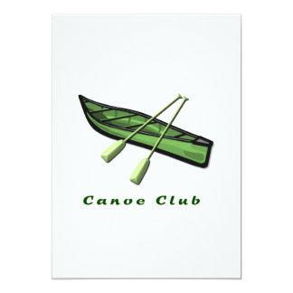 Invitación del club de la canoa invitación 12,7 x 17,8 cm
