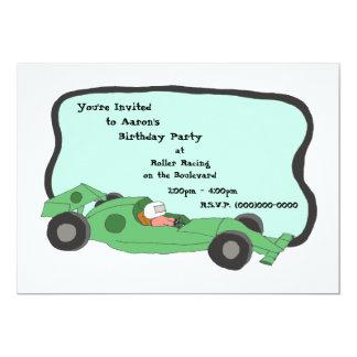 Invitación del coche de competición