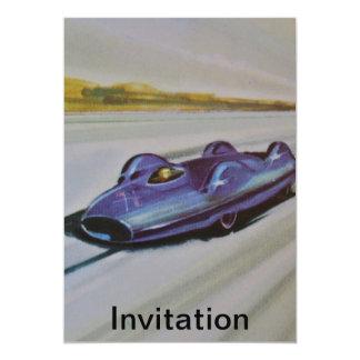 Invitación del coche de competición del vintage