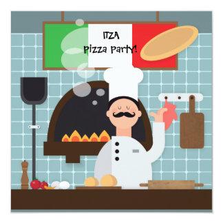 Invitación del cocinero de la pizza