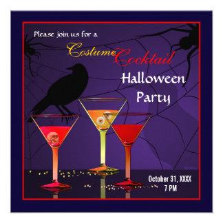 Invitación del cóctel de Halloween