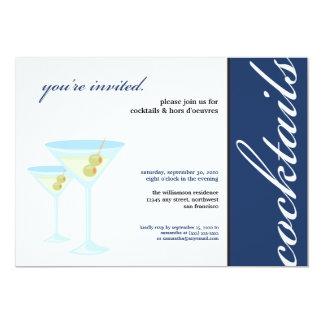 Invitación del cóctel de los vidrios de Martini