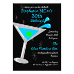 Invitación del cóctel de Martini del cumpleaños