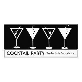 Invitación del cóctel del vintage lona personalizada