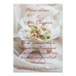 Invitación del compromiso de la caja de la flor