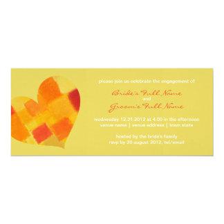 Invitación del compromiso del confeti del verano