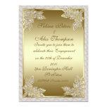 Invitación del compromiso del oro