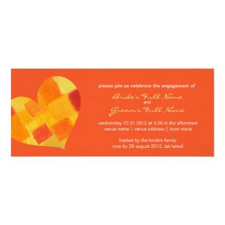 Invitación del compromiso del tango del verano